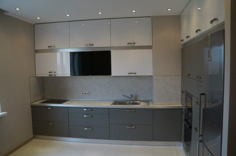Белый кухонный гарнитур-Кухня из ЛДСП «Модель 196»-фото2