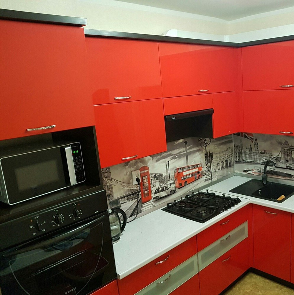 Акриловые кухни-Кухня из пластика «Модель 138»-фото1