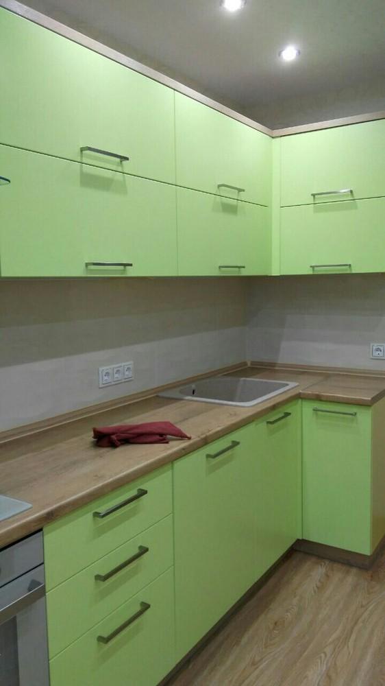 Встроенная кухня-Кухня МДФ в ПВХ «Модель 194»-фото3