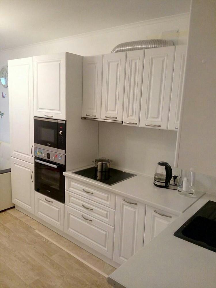 Акриловые кухни-Кухня МДФ в эмали «Модель 166»-фото2