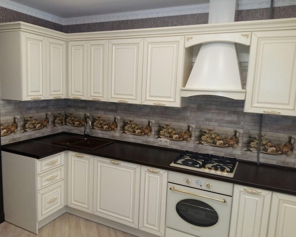 Белый кухонный гарнитур-Кухня МДФ в ПВХ «Модель 146»-фото2
