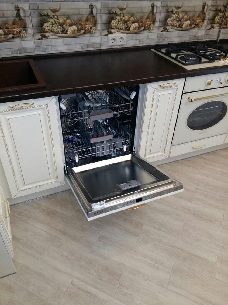 Белый кухонный гарнитур-Кухня МДФ в ПВХ «Модель 146»-фото5