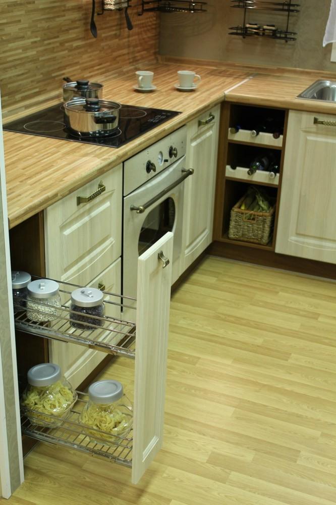 Белый кухонный гарнитур-Кухня МДФ в ПВХ «Модель 128»-фото7