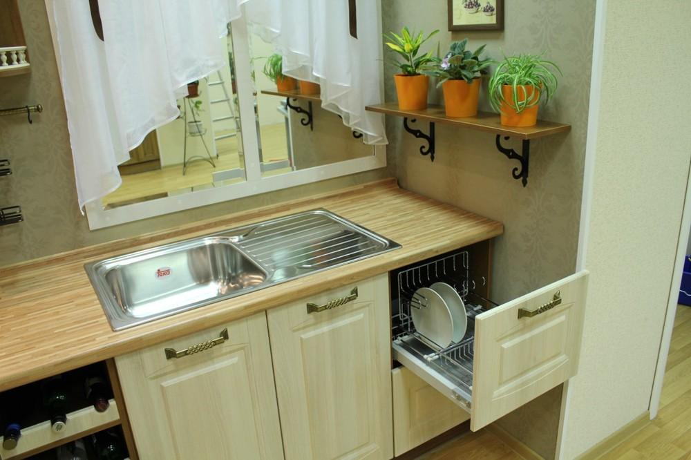 Белый кухонный гарнитур-Кухня МДФ в ПВХ «Модель 128»-фото9
