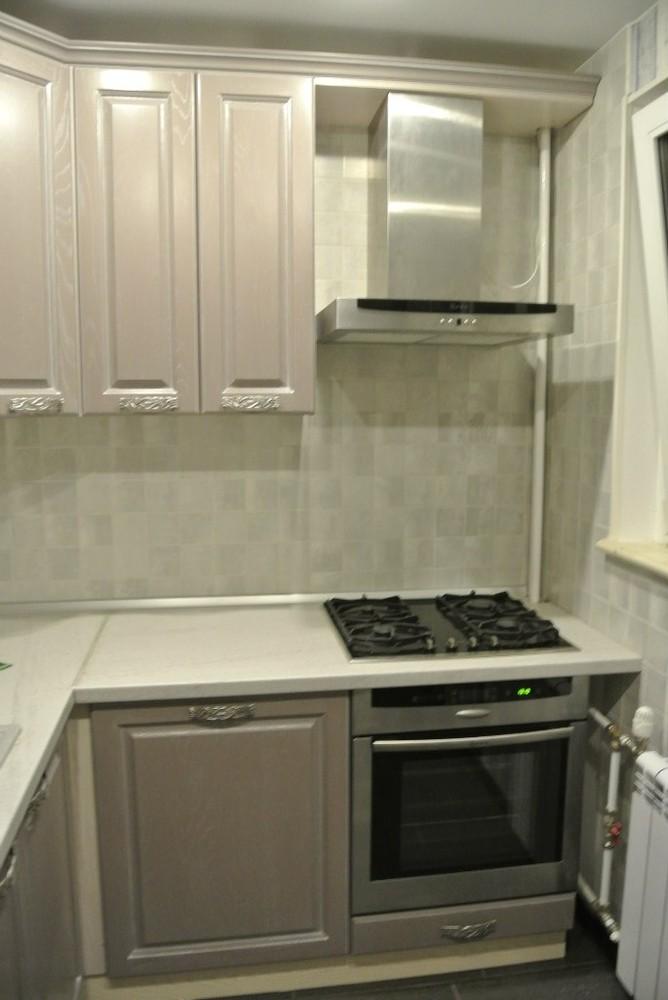 Встроенная кухня-Кухня МДФ в ПВХ «Модель 156»-фото1