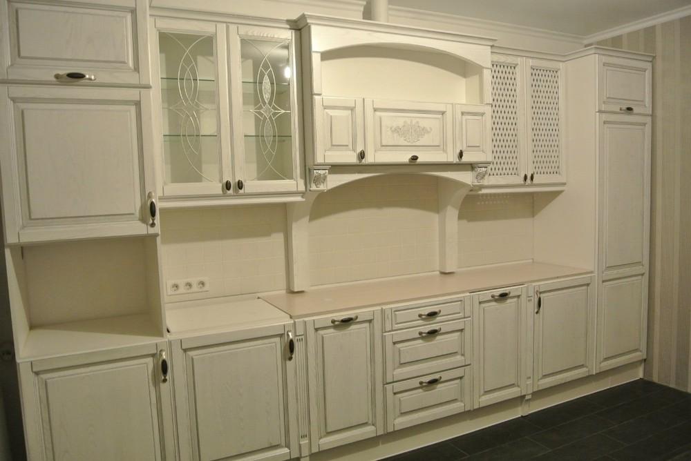 Белый кухонный гарнитур-Кухня МДФ в ПВХ «Модель 187»-фото3