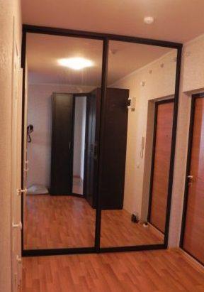 Встроенные шкафы-купе-Шкаф-купе с зеркалом «Модель 123»-фото1