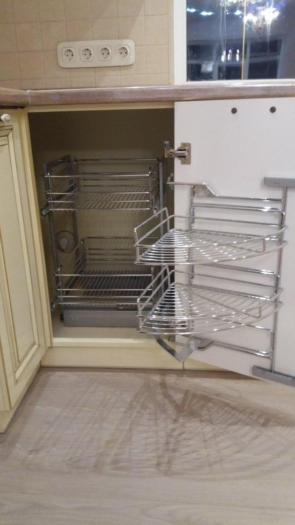Белый кухонный гарнитур-Кухня МДФ в ПВХ «Модель 69»-фото5