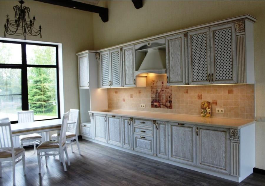 Белый кухонный гарнитур-Кухня из массива «Модель 42»-фото1