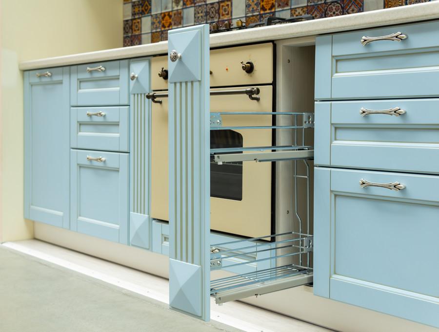 Встроенная кухня-Кухня МДФ в ПВХ «Модель 54»-фото5