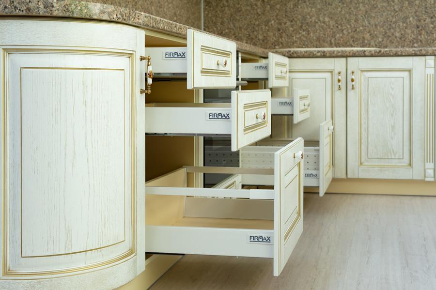 Белый кухонный гарнитур-Кухня МДФ в пластике «Модель 50»-фото6