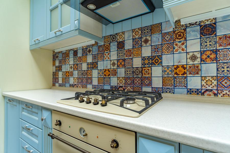 Встроенная кухня-Кухня МДФ в ПВХ «Модель 54»-фото4