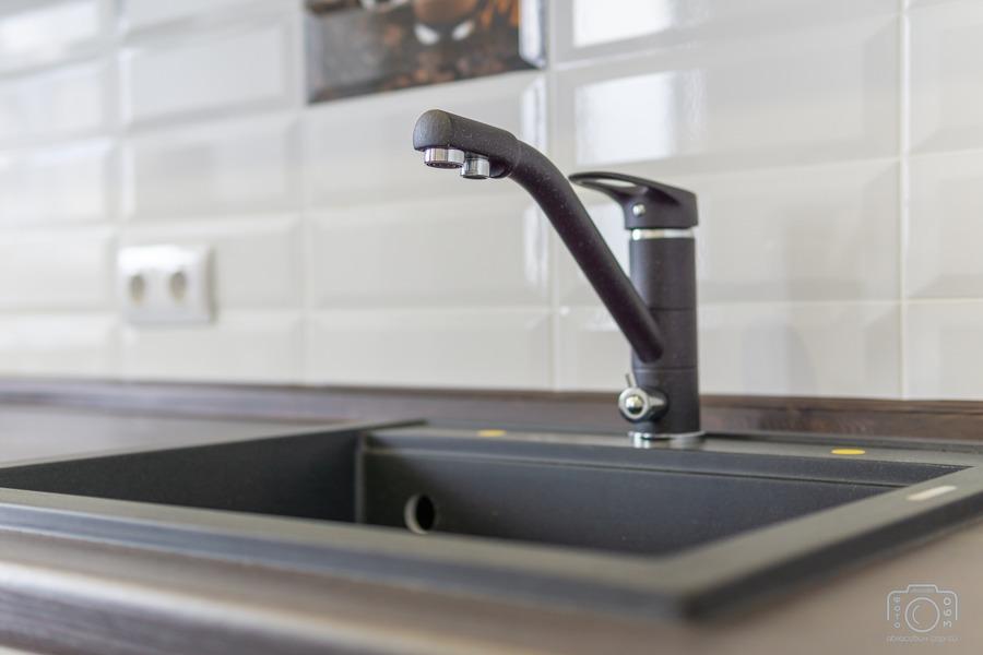 Белый кухонный гарнитур-Кухня МДФ в эмали «Модель 6»-фото9