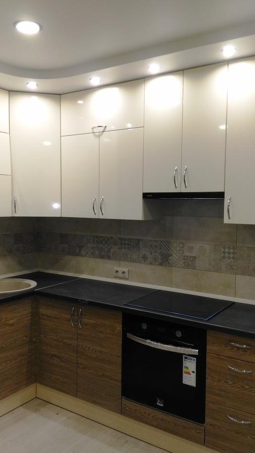 Белый кухонный гарнитур-Кухня МДФ в ПВХ «Модель 36»-фото2