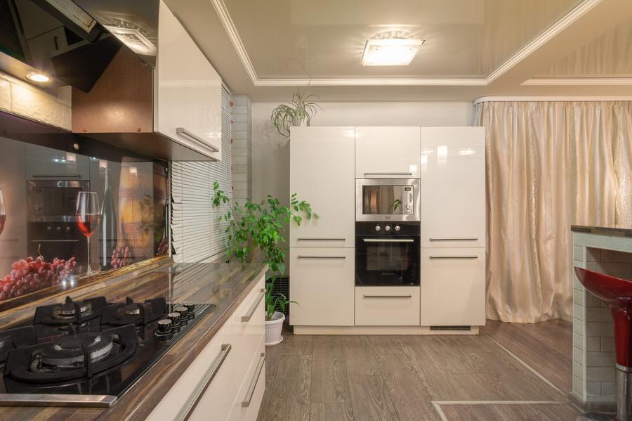 Бежевые кухни-Кухня из пластика «Модель 2»-фото4