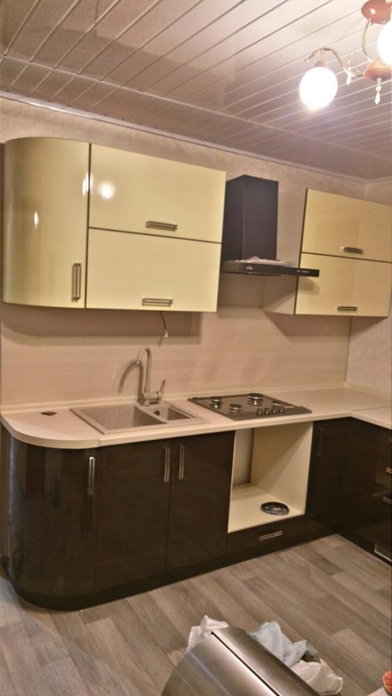 Кухни на заказ-Кухня из шпона «Модель 344»-фото5