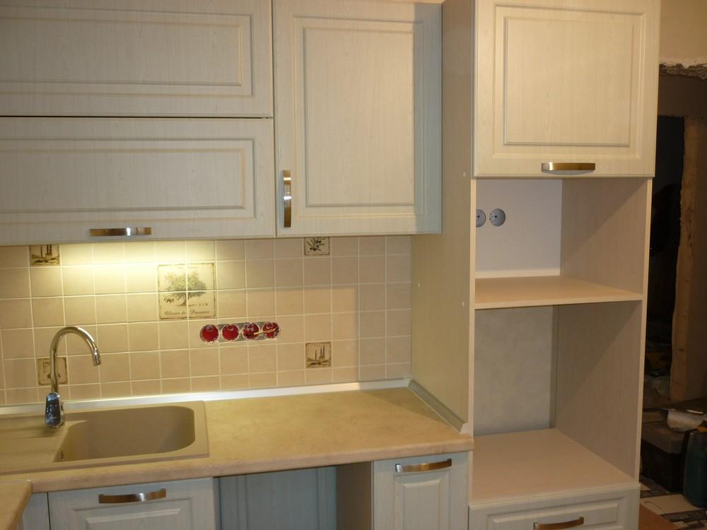 Белый кухонный гарнитур-Кухня МДФ в ПВХ «Модель 290»-фото9
