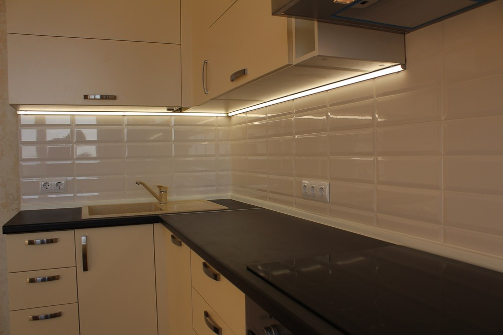 Акриловые кухни-Кухня МДФ в ПВХ «Модель 305»-фото2