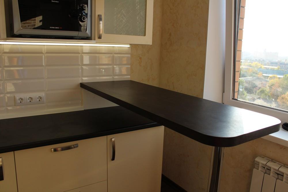 Акриловые кухни-Кухня МДФ в ПВХ «Модель 305»-фото5