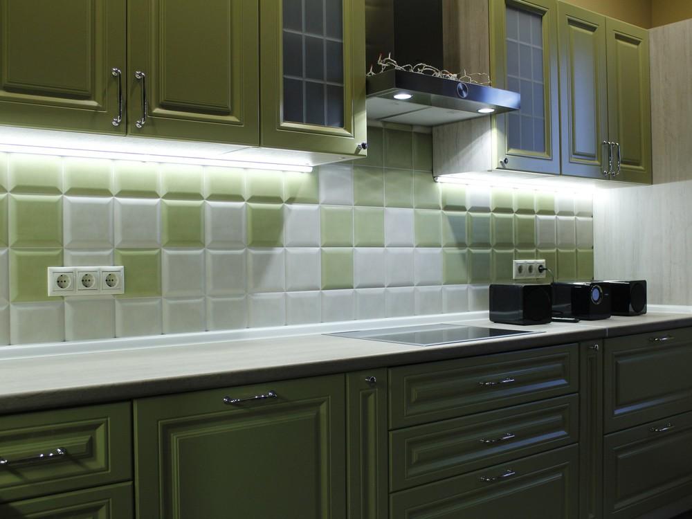 Встроенная кухня-Кухня МДФ в эмали «Модель 123»-фото5