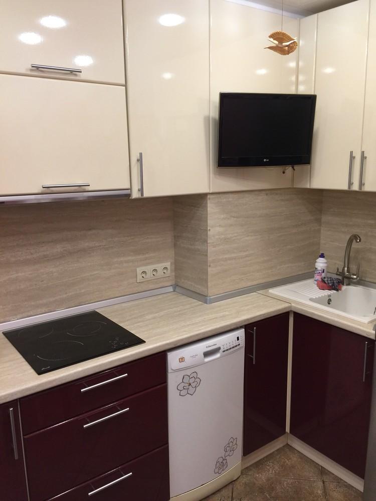 Белый кухонный гарнитур-Кухня МДФ в ПВХ «Модель 359»-фото4