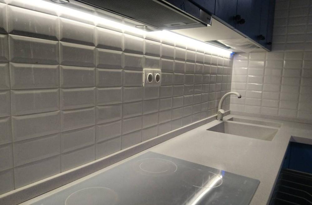 Встроенная кухня-Кухня МДФ в ПВХ «Модель 117»-фото2