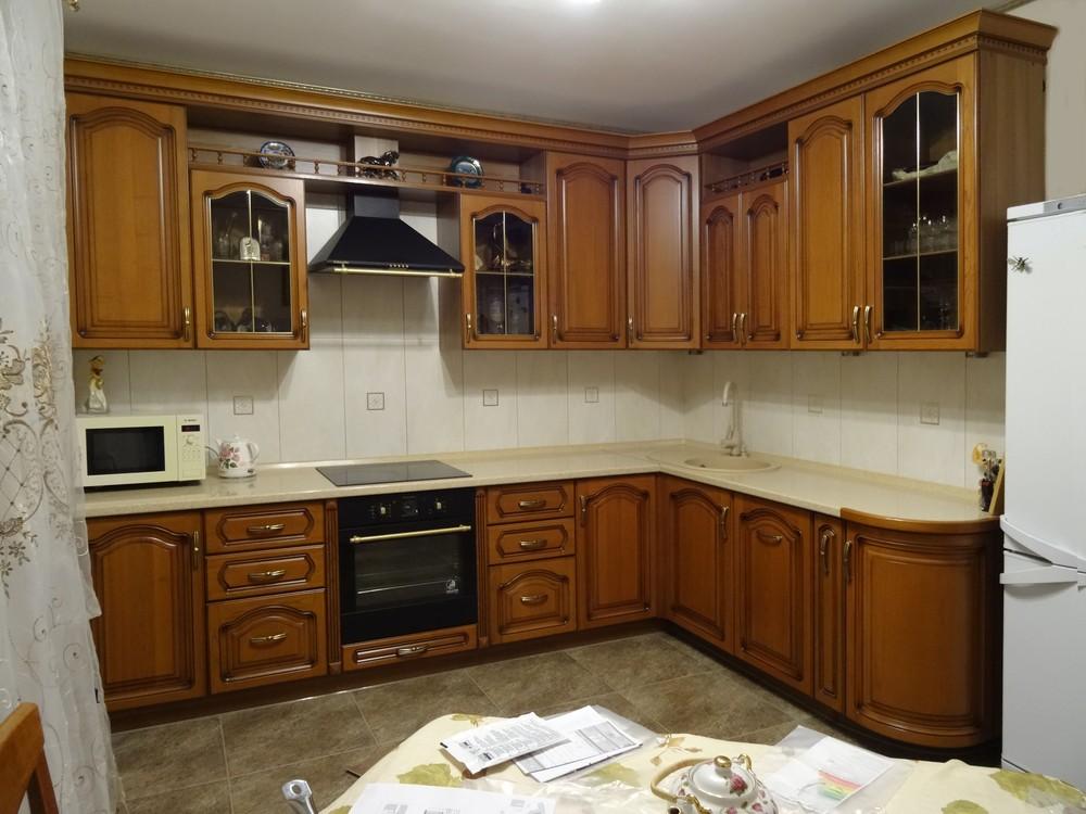 Встроенная кухня-Кухня из массива «Модель 22»-фото1