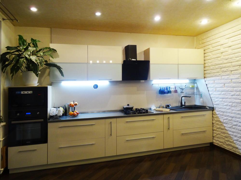 Акриловые кухни-Кухня из пластика «Модель 295»-фото2