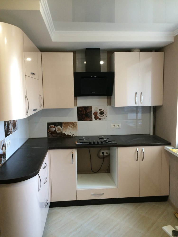Белый кухонный гарнитур-Кухня МДФ в ПВХ «Модель 323»-фото7