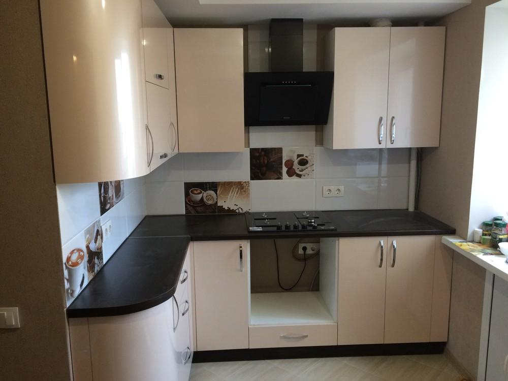 Белый кухонный гарнитур-Кухня МДФ в ПВХ «Модель 323»-фото8