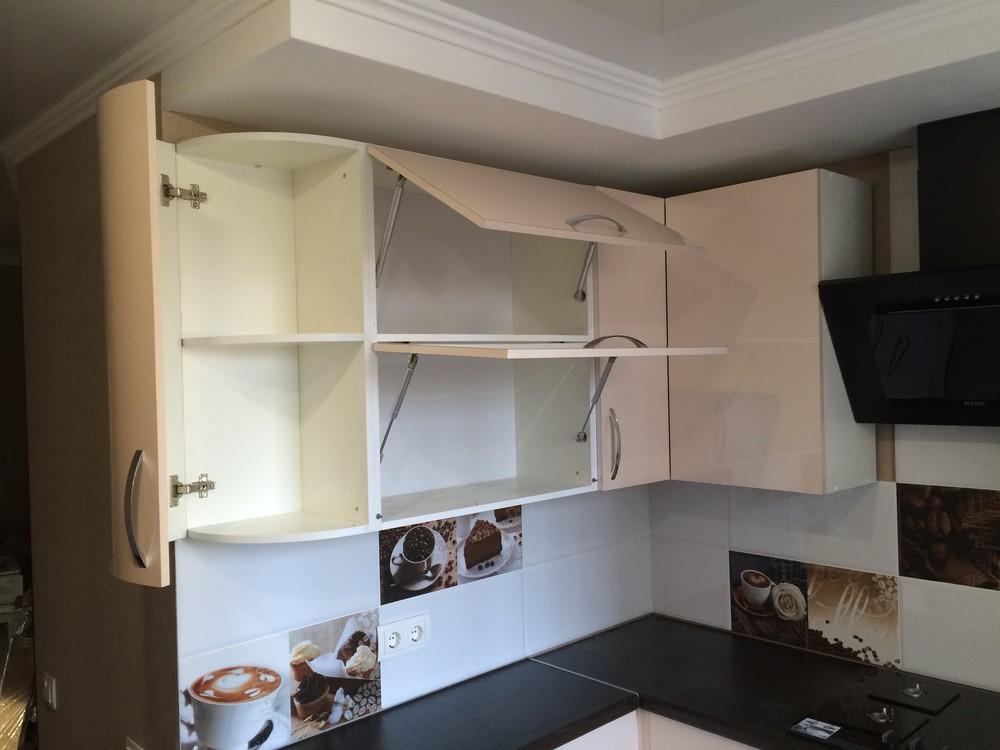 Белый кухонный гарнитур-Кухня МДФ в ПВХ «Модель 323»-фото10