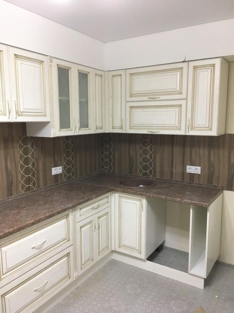 Белый кухонный гарнитур-Кухня МДФ в ПВХ «Модель 322»-фото2
