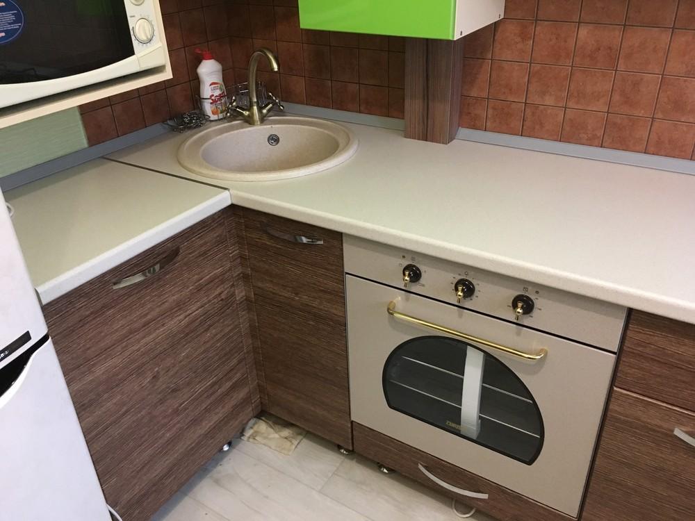 Встроенная кухня-Кухня МДФ в ПВХ «Модель 310»-фото6