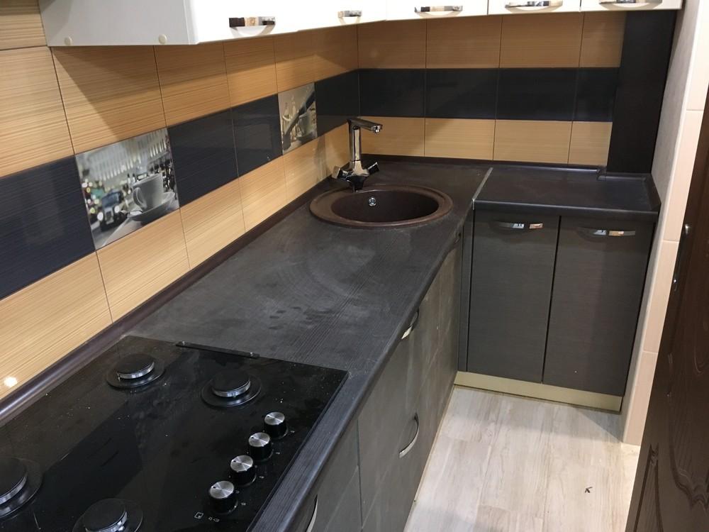 Белый кухонный гарнитур-Кухня МДФ в ПВХ «Модель 314»-фото3
