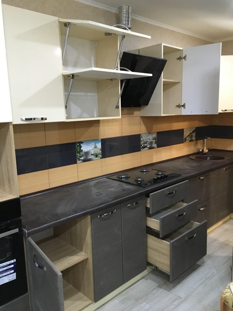 Белый кухонный гарнитур-Кухня МДФ в ПВХ «Модель 314»-фото5