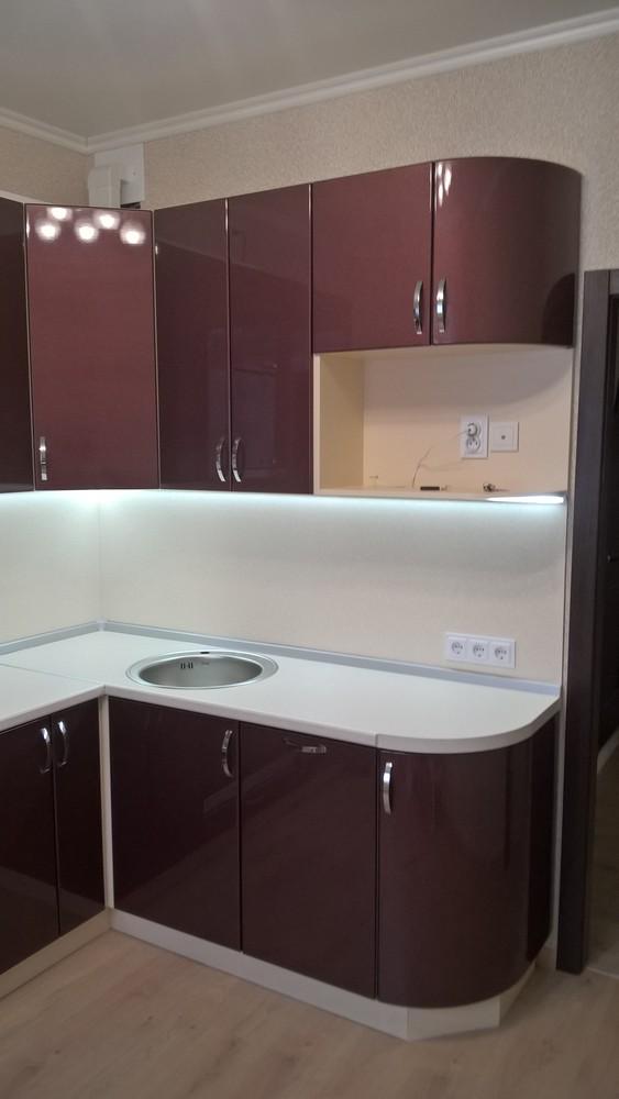 Белый кухонный гарнитур-Кухня МДФ в ПВХ «Модель 366»-фото1
