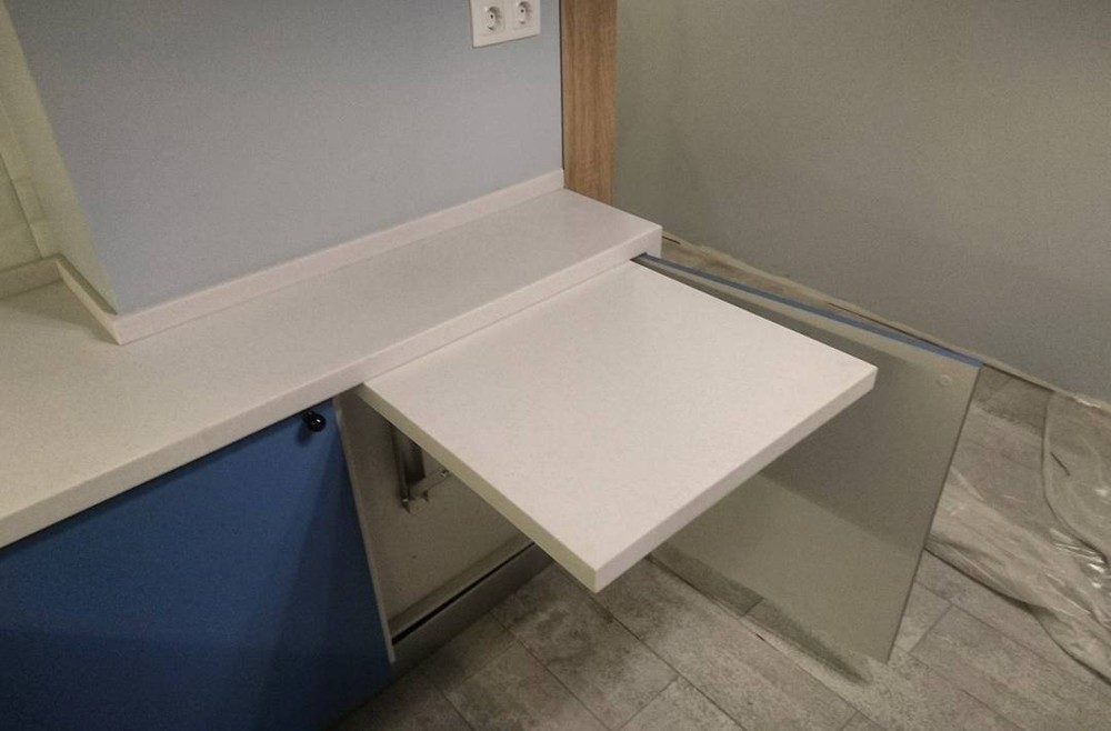 Встроенная кухня-Кухня МДФ в ПВХ «Модель 117»-фото4