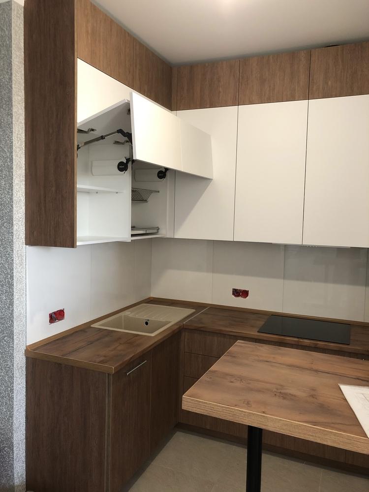 Высокие кухни под потолок-Кухня МДФ в ПВХ «Модель 73»-фото2