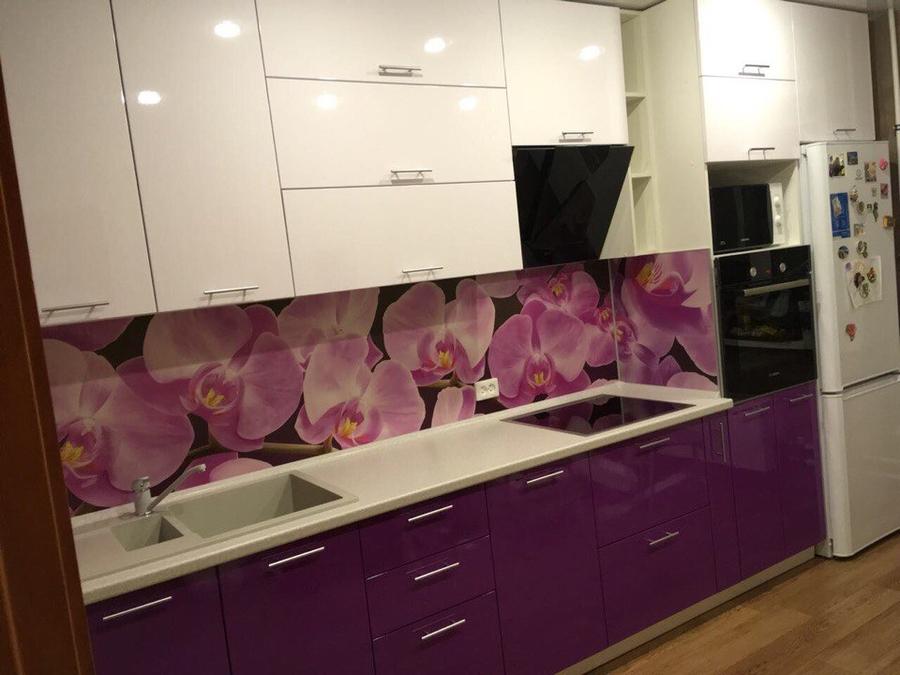 Белый кухонный гарнитур-Кухня из пластика «Модель 267»-фото3