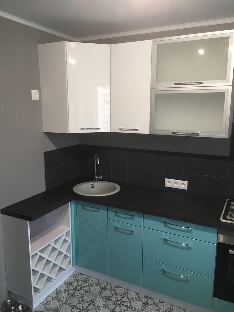 Белый кухонный гарнитур-Кухня МДФ в ПВХ «Модель 320»-фото4
