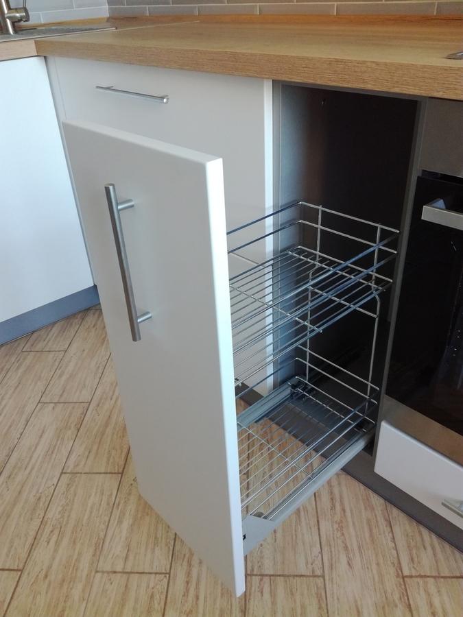 Белый кухонный гарнитур-Кухня МДФ в ПВХ «Модель 122»-фото7
