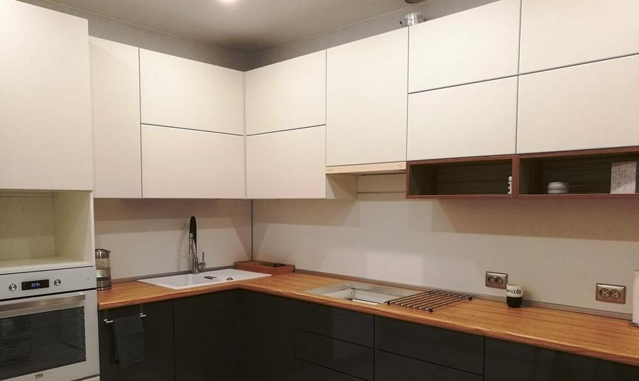Белый кухонный гарнитур-Кухня МДФ в ПВХ «Модель 124»-фото2