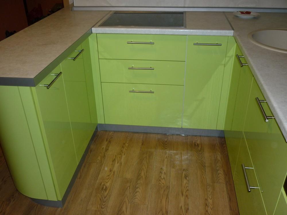 Встроенная кухня-Кухня МДФ в ПВХ «Модель 261»-фото3