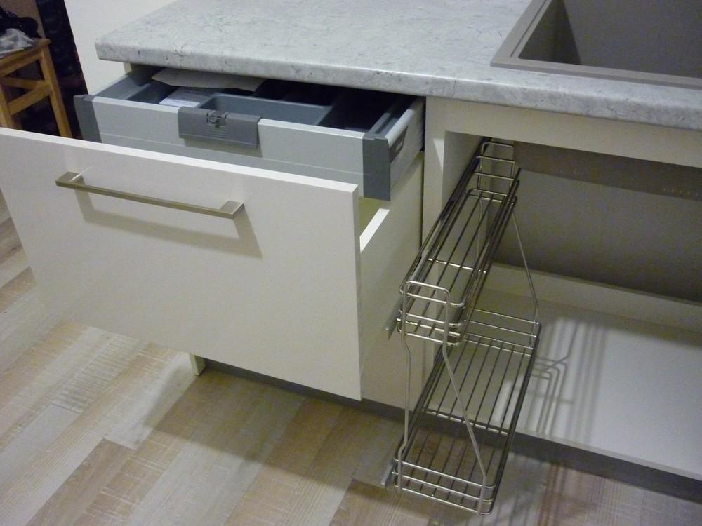 Белый кухонный гарнитур-Кухня МДФ в ПВХ «Модель 247»-фото5