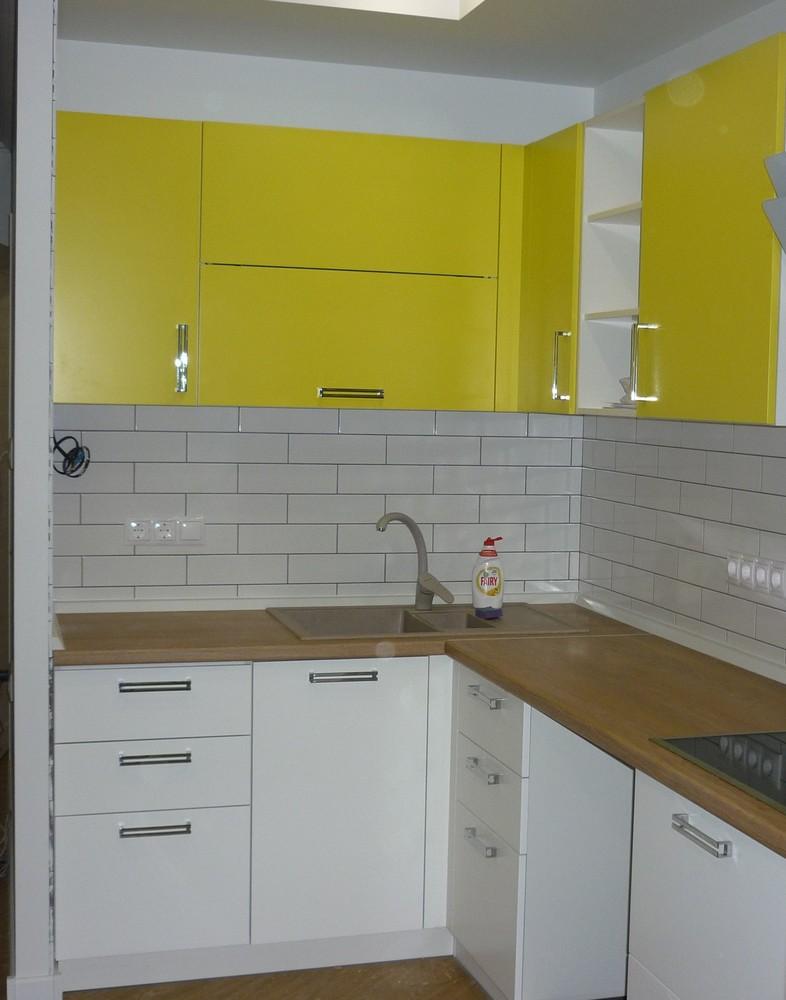 Акриловые кухни-Кухня из пластика «Модель 225»-фото1
