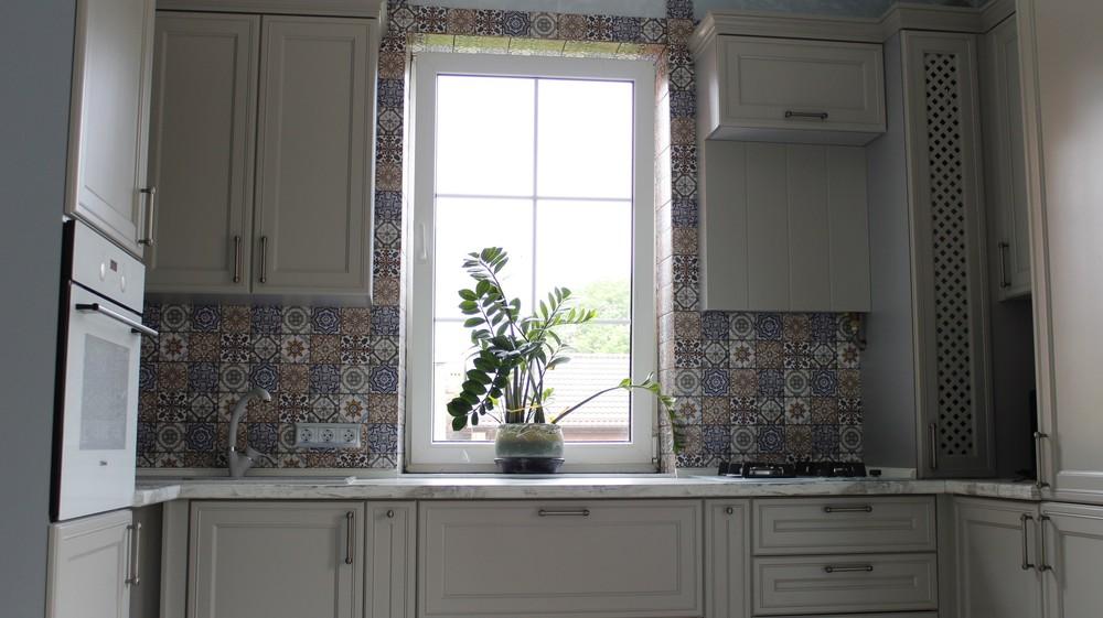 Встроенная кухня-Кухня МДФ в эмали «Модель 283»-фото4