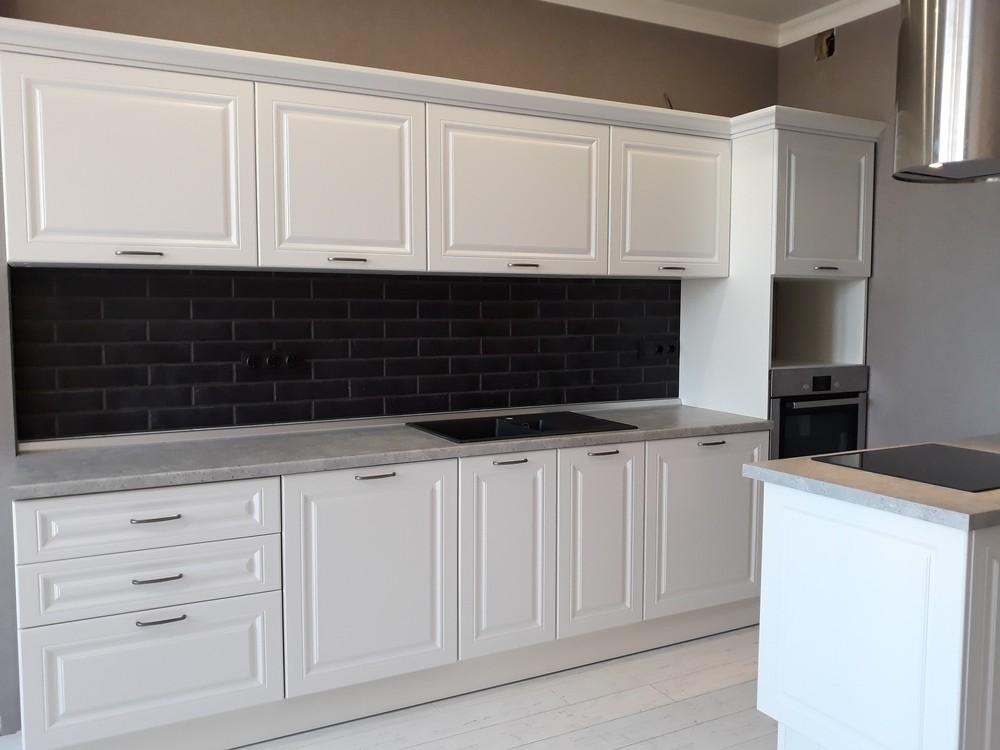 Белый кухонный гарнитур-Кухня МДФ в ПВХ «Модель 280»-фото3
