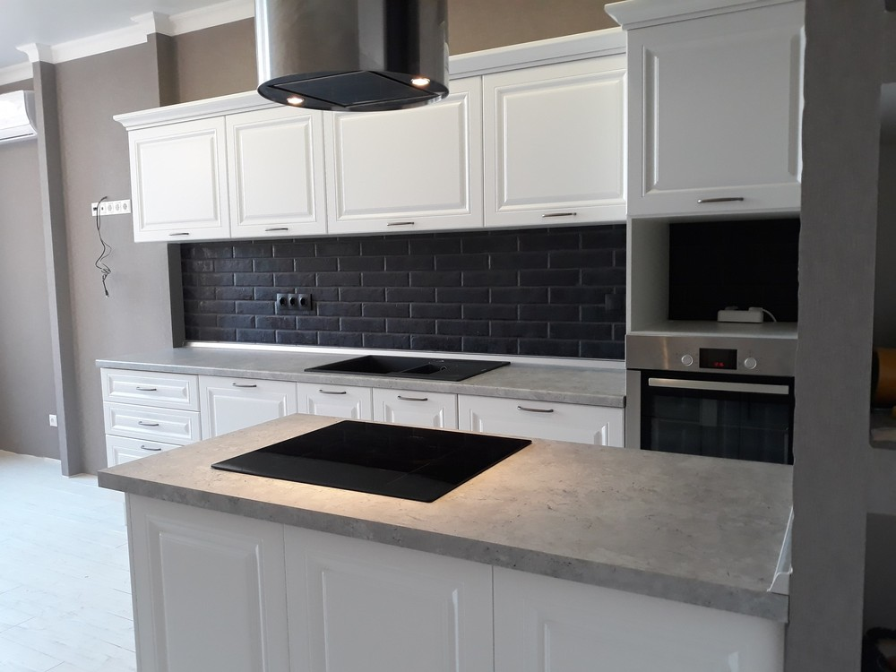 Белый кухонный гарнитур-Кухня МДФ в ПВХ «Модель 280»-фото5