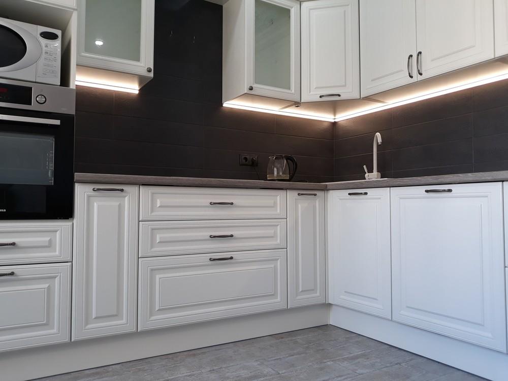 Встроенная кухня-Кухня МДФ в ПВХ «Модель 278»-фото2