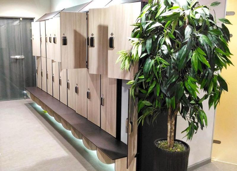 Торговая мебель-Шкафчики для раздевалки «Модель 161»-фото2